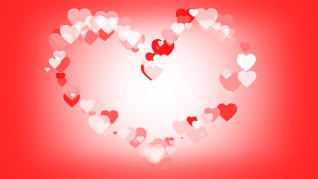 hearts in eine herzförmige motion weg. - inneres organ eines tieres stock-videos und b-roll-filmmaterial