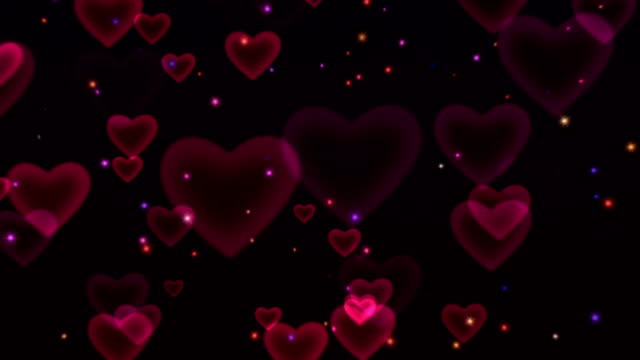 Hearts & Sparkles Looping Background video