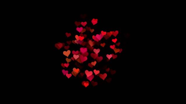 Hearts - valentine's concept (Loop 4k + Alpha)