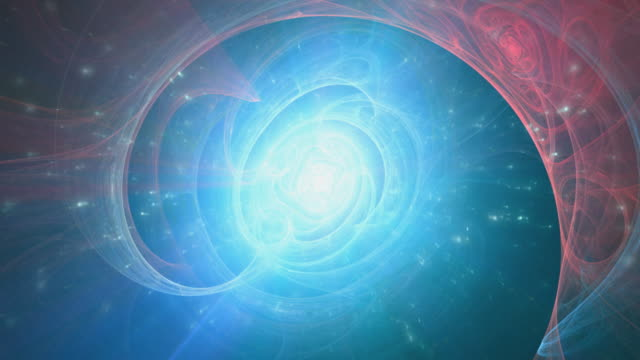 Heaven, Enlightenment -  blue animated fractal background video