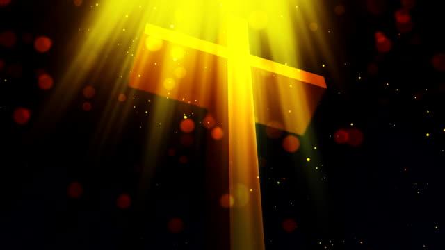 vídeos de stock, filmes e b-roll de heavenly cross 1 circulares fundo - primeira comunhão