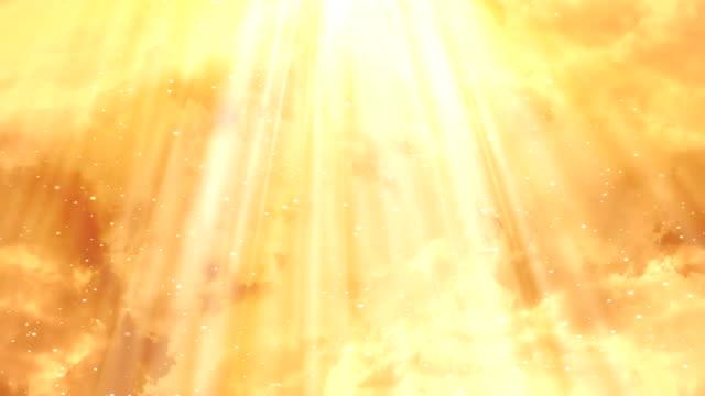 heavenly sole nuvole di loop di sfondo 1 - paradiso video stock e b–roll