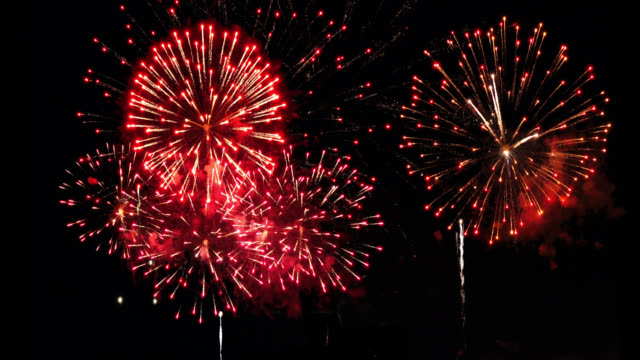 Heavy Firework 4K Audio Included Condense firework re-compose from multiple fireworks, more variation of firework footages available in my portfolio. chinese new year stock videos & royalty-free footage