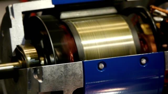 przemysł ciężki silnik elektryczny, - silnik filmów i materiałów b-roll