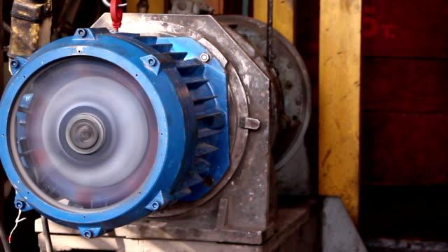 przemysł ciężki-silnik elektryczny, - silnik filmów i materiałów b-roll
