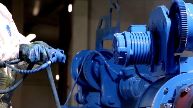 Heavy industry - industrial painting video