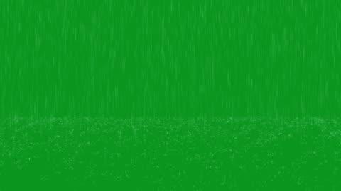 vidéos et rushes de boucle d'écran vert de heavy rain - pluie