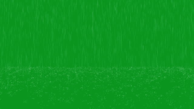 Heavy Rain Green Screen Loop video