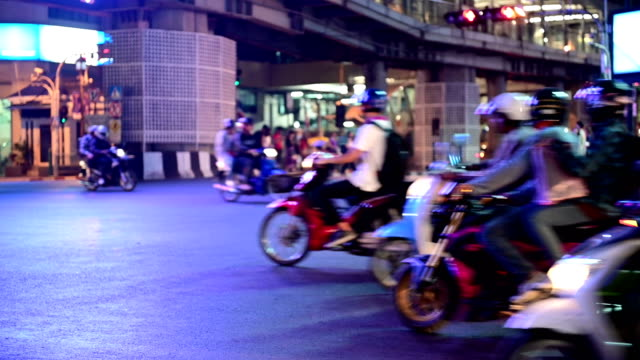 4K Heavy rush hour traffic motorbikes and cars move fast video