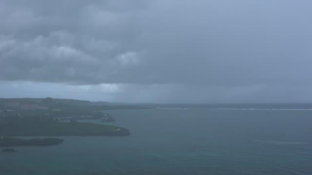 Heavy squall or storm in Miyako island, Okinawa, Japan video