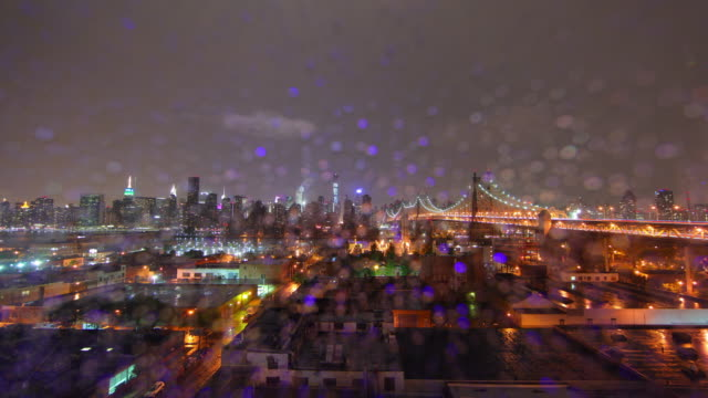 NYC heavy Storm time lapse video 4K video
