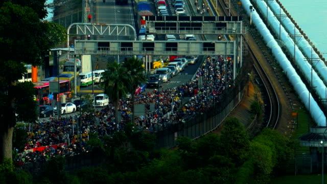 A heavy traffic at the Singapore causeway bridge A daily heavy traffic at the Singapore causeway bridge johor bahru stock videos & royalty-free footage