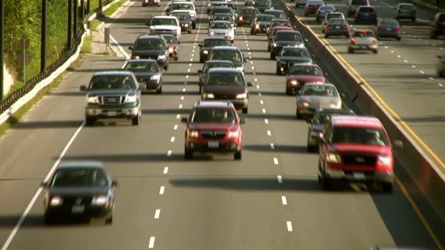 Heavy traffic timelapse w/lane changes. video