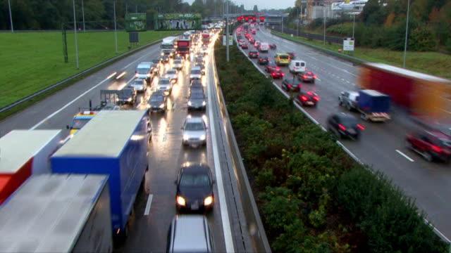 Heavy traffic Timelaps-Loop video