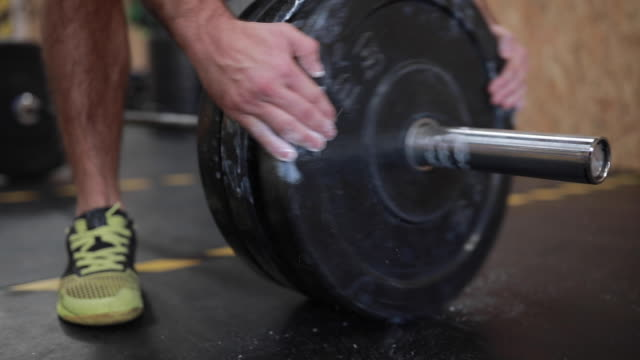 Heavy Weightlifting In Gym Lifting Heavy Weights On Cross Training In Gym cross training stock videos & royalty-free footage