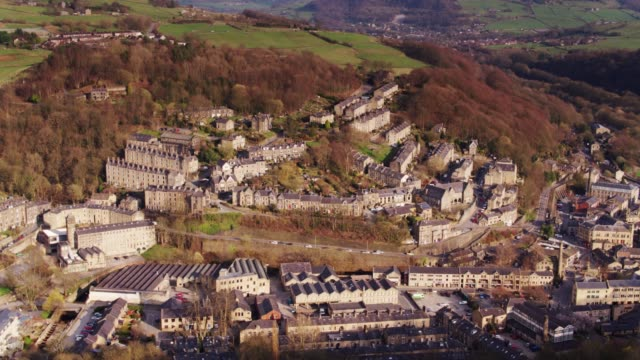 Hebden Bridge - Drone Shot with Upwards Tilt video