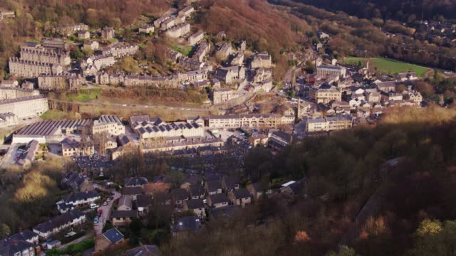 Hebden Bridge in Calderdale - Drone Shot video