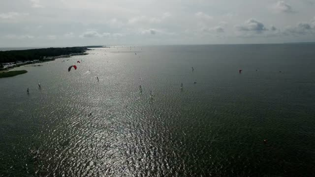 Hel Peninsula aerial view video