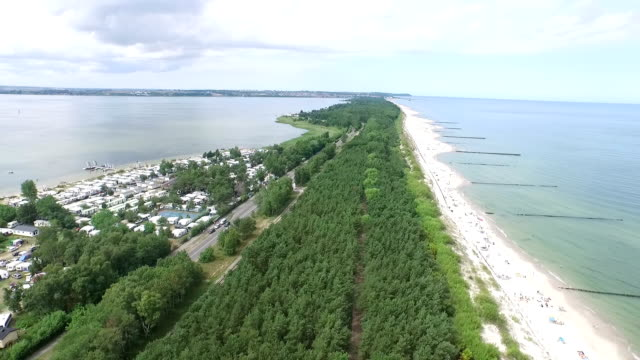 Hel Peninsula and Baltic Beach video