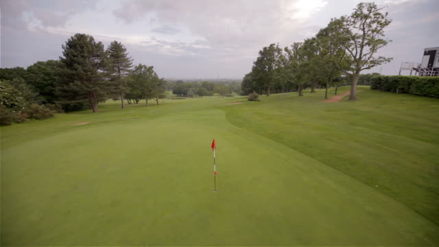 Helicopter golf hole rise video