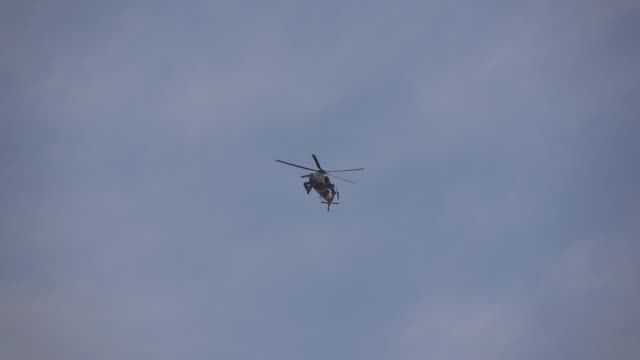 Helicopter in the air video