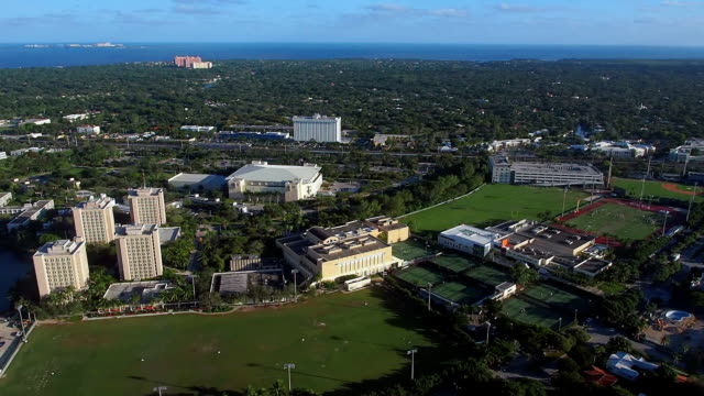 Helicopter ride over University of Miami Coral Gables video