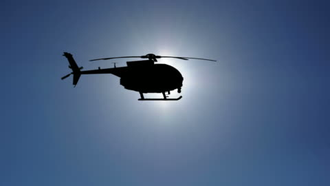 Helicopter Slowmotion HD Helicopter silhouette in the clear sky. Alpha channel included. Check out some other aviation files: helicopter stock videos & royalty-free footage