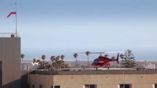 Helicopter Taking Off from Helipad