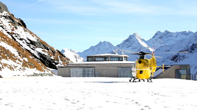 Helicopter (HD) Rescue helicopter in the Alps medevac stock videos & royalty-free footage