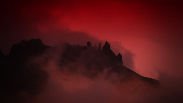 hell landscape with rocks and smoke - inferno video stock e b–roll