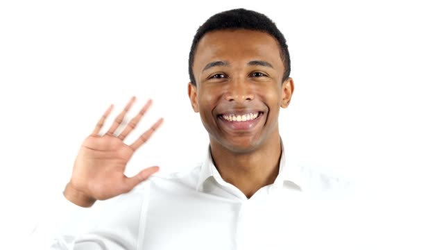 Hello Gesture by Black Man, Waving Hand