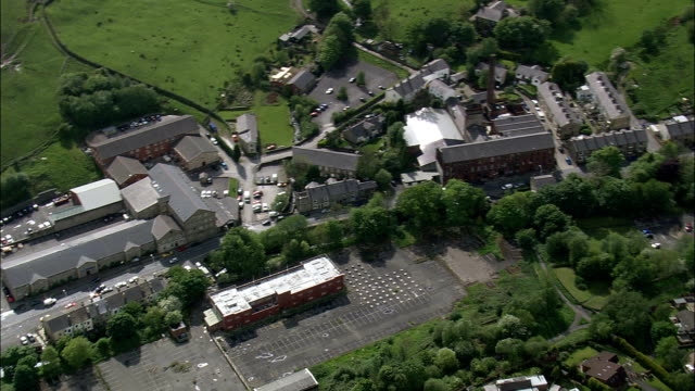 Helmshore Textile Museum And Mills  - Aerial View - England,  Lancashire,  Rossendale District helicopter filming,  aerial video,  cineflex,  establishing shot,  United Kingdom video