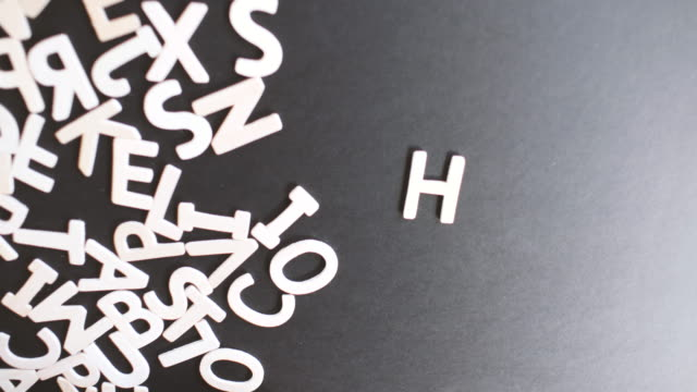 Help Spelled In wooden alphabet video