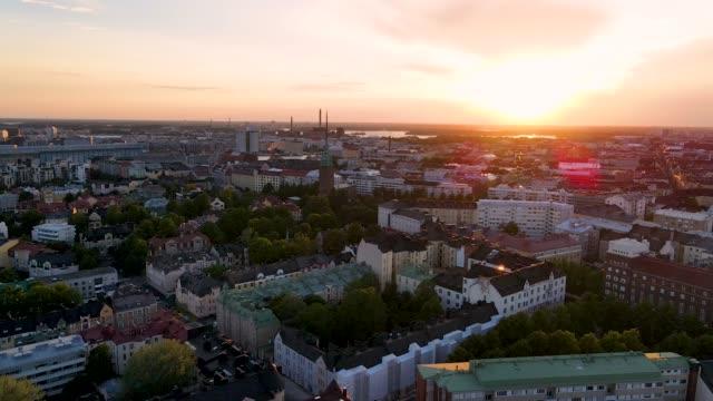 helsingfors antenn finland - drone helsinki bildbanksvideor och videomaterial från bakom kulisserna