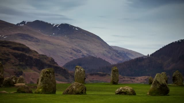 Helvellyn Rising Over Castlerigg Stone Circle - Time Lapse