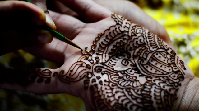 henna tattoo - wedding fashion stock videos and b-roll footage