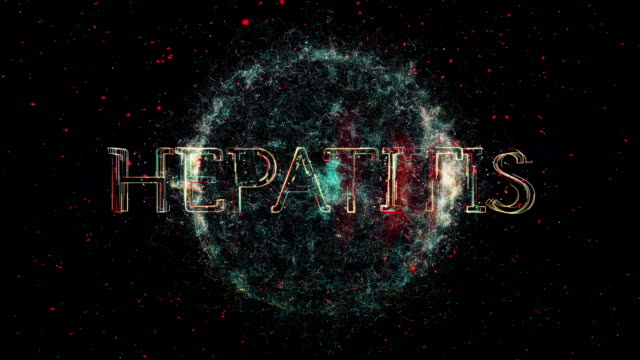 "Hepatitis title animation A representation of a Virus or bacteria with the word ""Hepatitis"" parasitic stock videos & royalty-free footage"