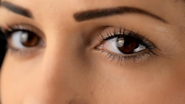 Her eyes close up flirting video
