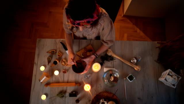 herbal medicine - hippy video stock e b–roll