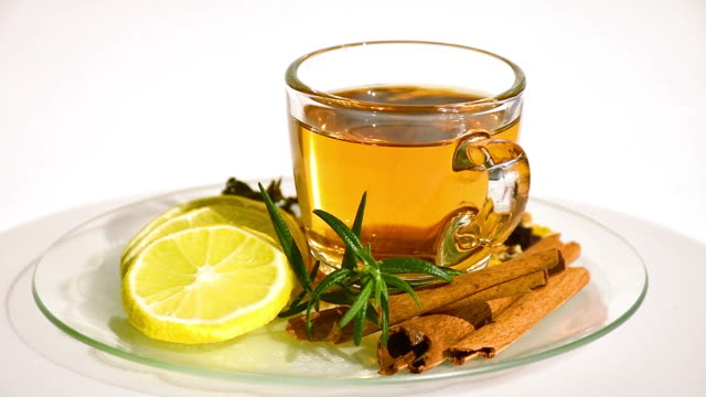 herbal tea. - tea cup stock videos & royalty-free footage