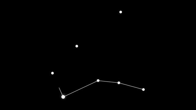 vídeos y material grabado en eventos de stock de constelación de estrellas de hércules - constelación