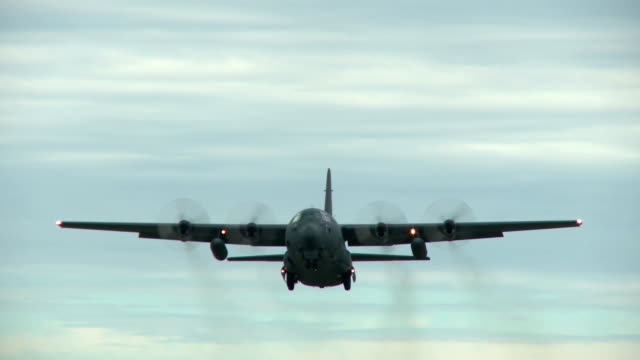 Hercules Take off A C-130 Hercules on climb out after take off propeller airplane stock videos & royalty-free footage