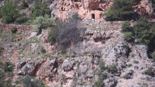 hermitage, monastery of mar sarkis - męczennik filmów i materiałów b-roll