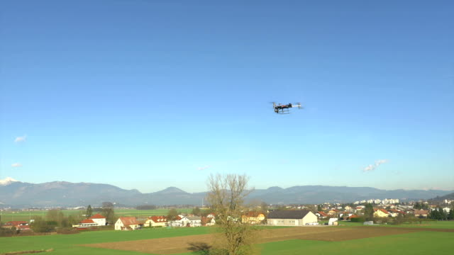 AERIAL: Hexacopter flying and filming the nature video