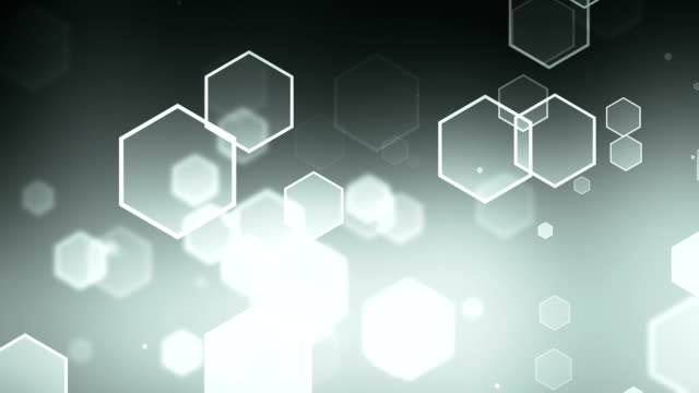 Hexagon Gray Background Loopable video