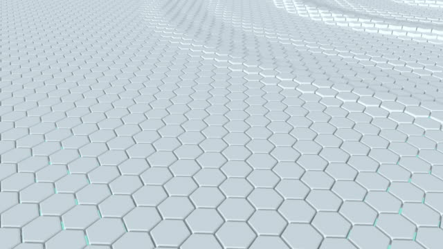 Hexagon looped 3D animation video