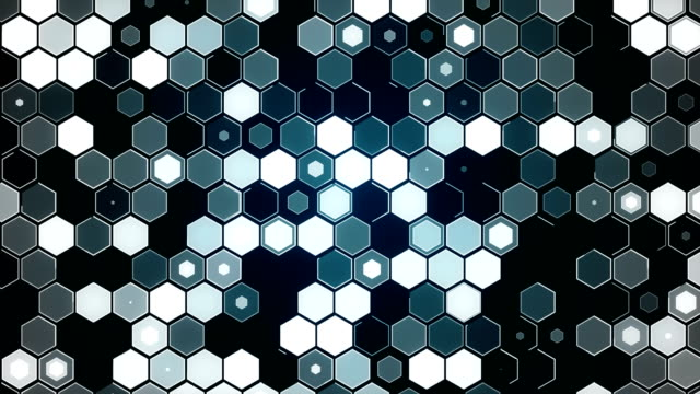Hexagon Particle Abstract Background video