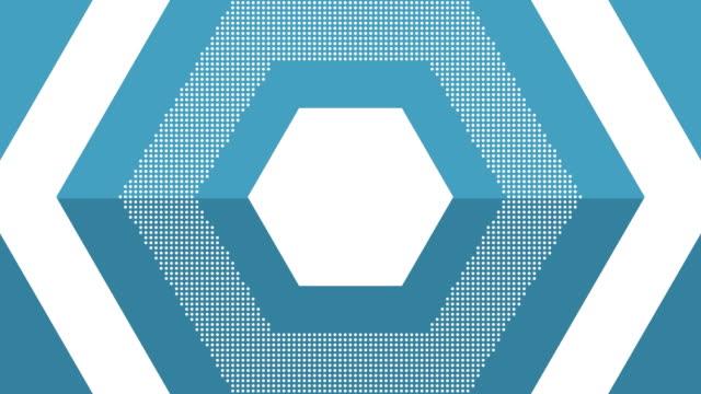 forme esagonali - esagono video stock e b–roll