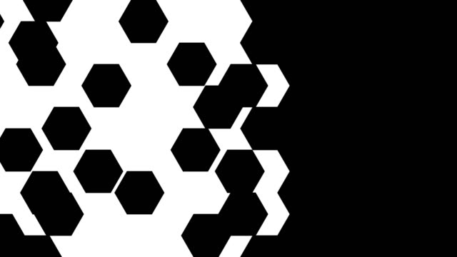 4k hexagon transition masks. abstract motion graphics and animated background. - comparsa video stock e b–roll