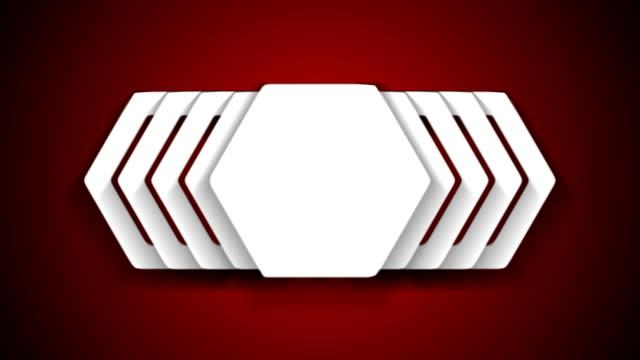 vídeos de stock, filmes e b-roll de hexágono web adesivo modelo animação de vídeo - clipe